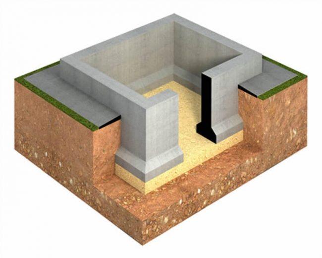 Цокольный 6х8 - для каменного дома
